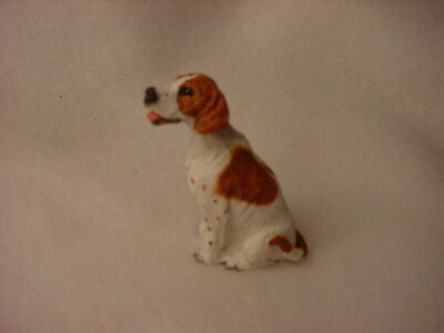 POINTER brown white puppy TiNY DOG Resin Figurine MINIATURE Mini Statue NEW