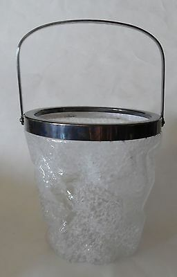 Vintage Wmf Germany  Frosted Glass Ice Bucket
