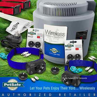 Petsafe PIF-300 Instant Wireless Fence 2 Dogs Blue Collars