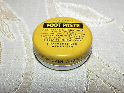 Antique Collectable Foot Paste Tin
