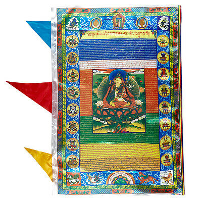 "36"" Tibet Blessed Silkprint Wind Horse Prayer Flag: Padmasambhava Guru Rinpoche"