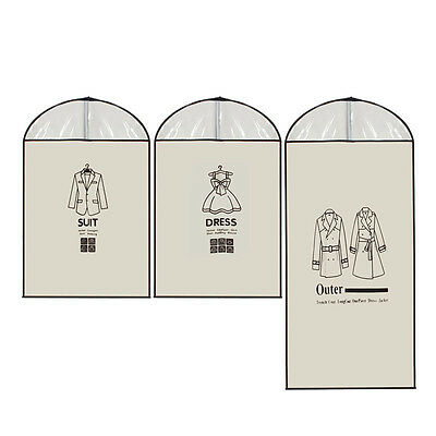 Home Clothes Garment Cover Case Dustproof Storage Bags Protector Overlay Bag