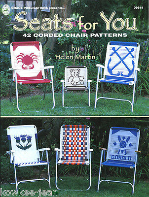 Seats for You GR9644: Macrame LAWN CHAIR PATTERNS cat; puppy; wolf; rooster +