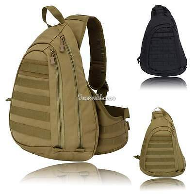USA Military Heavy Duty Waterproof Large Sling Single Shoulder Chest Pack SH
