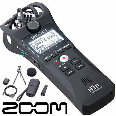Zoom H1N Ultra Portable Stereo Digital audio sd recorder and accessories pack