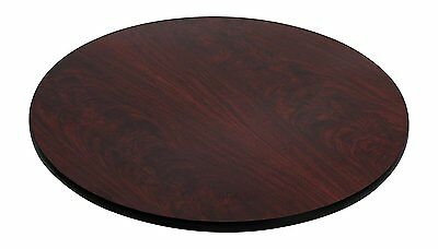 "Flash Furniture 42"" Round Table Top W/ Black or Mahogany Reversible Laminate Top"