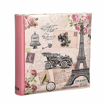 "Travel Memories 200 Holds Slip In Photo Album ( 4'' x 6"") With Memo Area -FL200"