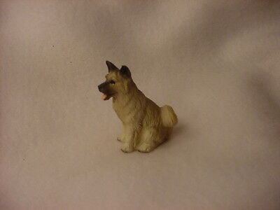AKITA gray puppy TiNY FIGURINE Dog HAND PAINTED MINIATURE Mini Resin Statue NEW