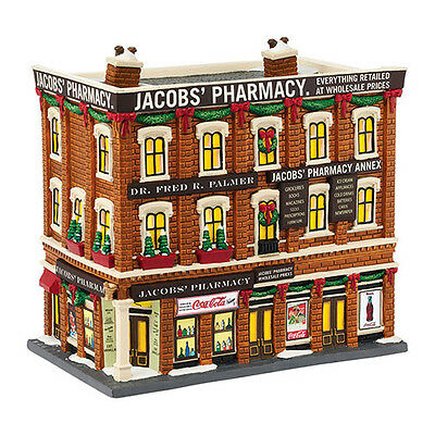 Dept 56 Christmas In The City Village New 2015 JACOBS PHARMACY 4044791 Jacob's