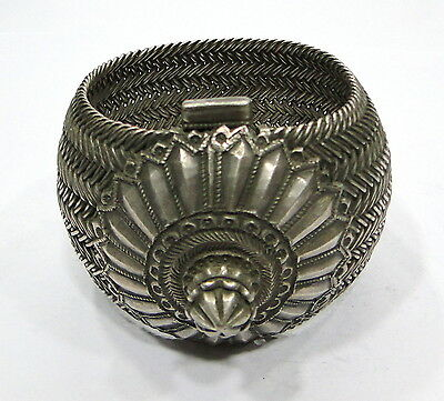 Rare! Vintage antique ethnic tribal old silver bracelet bangle handmade Jewelry
