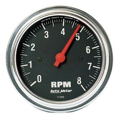 Auto Meter 2499 Traditional Chrome Air-Core In-Dash Tach, 8k, 3-3/8 In