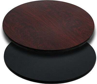 "Flash Furniture 24"" Round Table Top w/Black Or Mahogany Reversible Laminate Top"