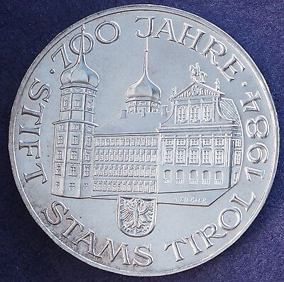 1984 Austria 500 Schilling KM# 2968 Special UNC Issue Sterling Silver BU Coin