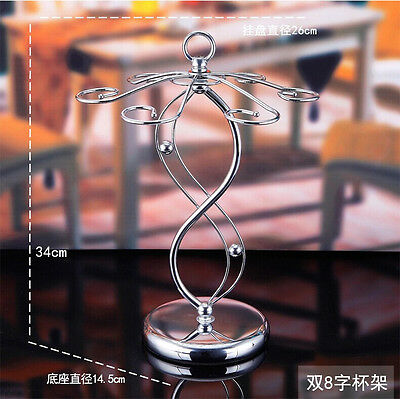 Homeware Infinity Style Wine Glass Hanging Cup Metal Rack Stand