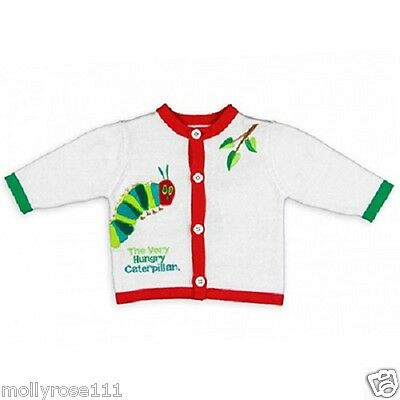 Gorgeous The World Of Eric Carle Caterpillar Cotton Cardigan & Hat Set Outfit