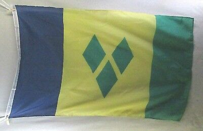 St Vincent and Grenadines Large 3 x 5 Flag New Nylon Blend with Metal Grommets