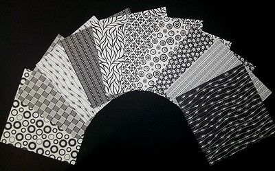 "Mono BLACK & WHITE  Scrapbooking Papers **15cm x 15cm** (6"" X 6"")"