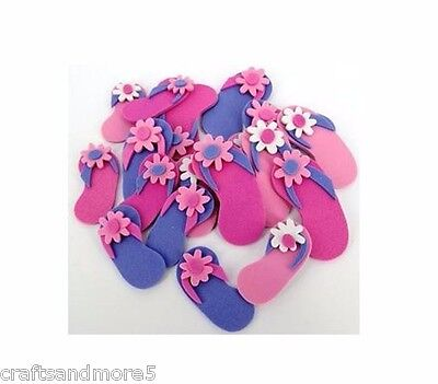 25 x Foam Thong Stickers ~ Pink & Purple ~ Great for Kids Crafts/Scrapbooking