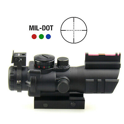 Tactical Sniper 4x32 Prismatic Glass Chevron Reticle Scope