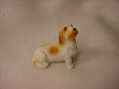 PETIT BASSET GRIFFON VENDEEN puppy TiNY FIGURINE Dog MINIATURE Mini Resin Statue