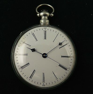 .important 19Th Century T Jacot Fleurier Chinese Duplex Silver Pocket Watch -Wow