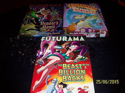 Animated Series: Futurama!! 3 Movies!! Used & In Excellent Condition!!!!