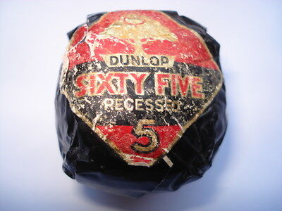 C1930S VINTAGE DUNLOP SIXTY FIVE No 5 RECESSED UNUSED/WRAPPED GOLF BALL