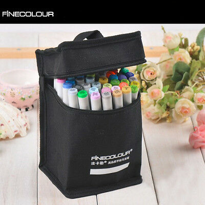 24/36/48/60/72/112 Colors FINECOLOUR EF101 Art Set Sketch Twin Tip Marker Pen