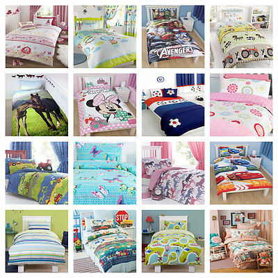 Girls and Boys Bedding Sets Single Duvet Cover and Pillowcase