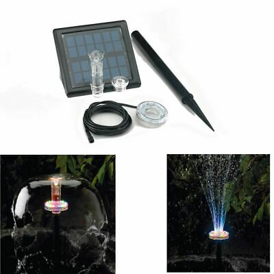 Bermuda Twilight Clear Solar Led Jet Set Colour Change Pond Pumps Fountain Light