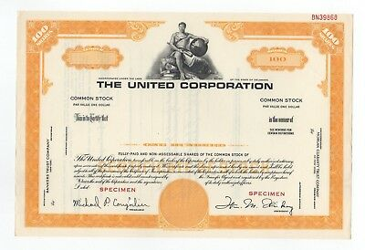 SPECIMEN - The United Corporation Stock Certificate