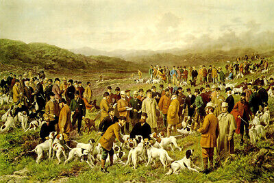 Meeting Of The Gun Dogs Society North Wales 1904 Painting By George Earl Repro