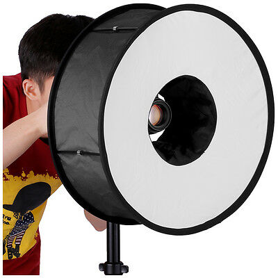 """Neewer Universal Collapsible Magnetic Ring Round Flash Diffuser Softbox 18"""""""