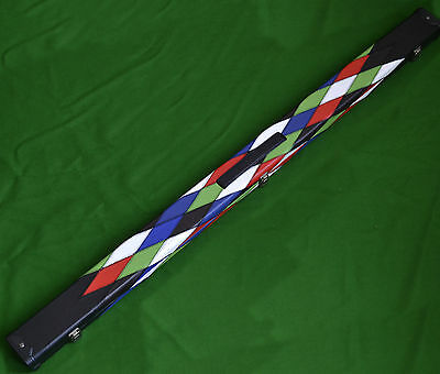 New Quality Deluxe Harlequin Patch 3/4 Snooker Cue Case