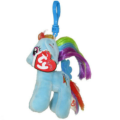 TY Beanie Baby - RAINBOW DASH w/Glitter Hairs (My Little Pony) (Key Clip - 5 in)