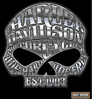 Harley Davidson Motorcycle Willie G Skull Chrome Decal Made In The Usa