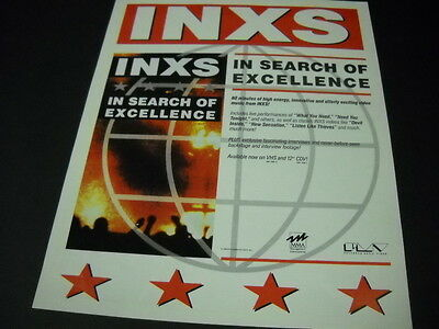 INXS are IN SEARCH OF EXCELLENCE 1989 Promo Poster Ad mint condition