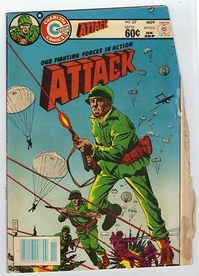 ATTACK 37 (1982)   ERROR VARIANT no DOUBLE COVER Butchered Mess