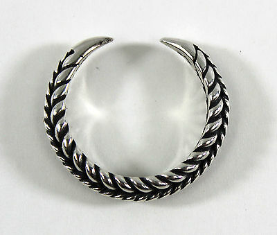Braided Viking Claw Ring - US Size 10 - 925 Sterling Silver --- Norse/Medieval