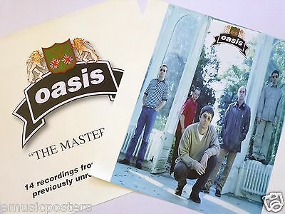 """OASIS """"THE MASTERPLAN"""" 2-SIDED U.S. PROMO POSTER - Group Shot and Band Logo"""