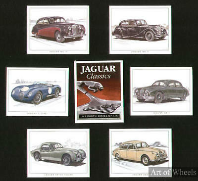 Jaguar Car Mk5 Mk4 Mk1 C-type XK120 Print Trade Cards