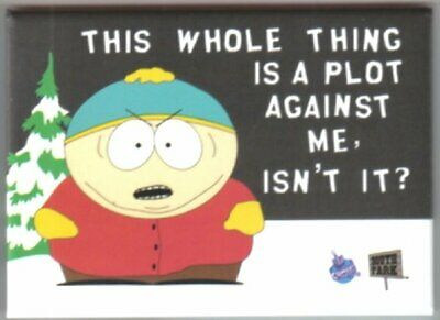 South Park Cartman Plot Against Me? Magnet, NEW UNUSED