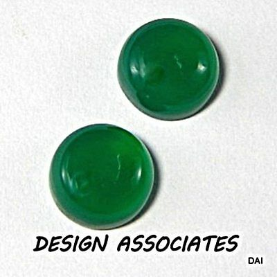 14 Mm Round Cut Natural Green Onyx  All Natural Aaa Cab