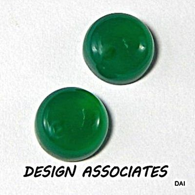 17 Mm Round Cut Natural Green Onyx  All Natural Aaa Cab