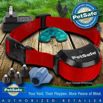 PetSafe Stay and Play Rechargeable Wireless Receiver Dog Collar Red PIF00-14288