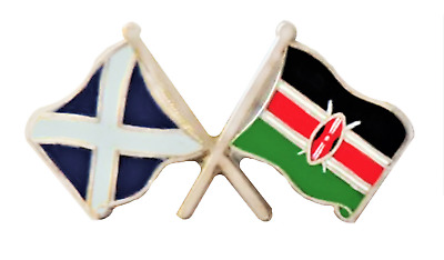 Kenya Flag & Scotland Flag Friendship Courtesy Pin Badge - T1201