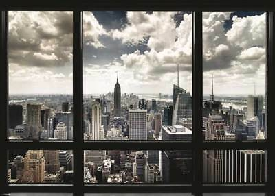 New York Window Giant XXL Poster - 140x100 cm