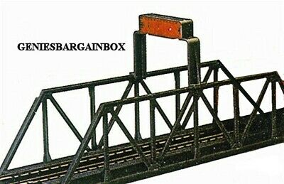 HO Scale Train BRIDGE with OPTIONAL REMOVABLE BLINKING LIGHT New Model Power