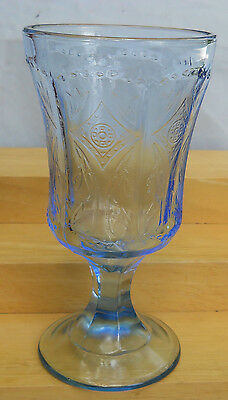 Indiana Madrid Blue Recollection Water Goblets 4 Glasses 12 Oz Lot S Reissue