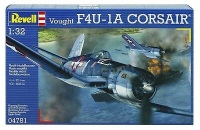 New Revell 1:32 Scale Vought F4U-1A Corsair Model Kit Sealed 04781